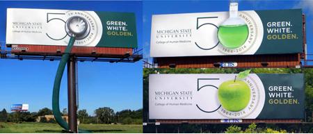 Michigan State University Billboard