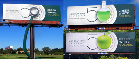 Michigan State University Billboard