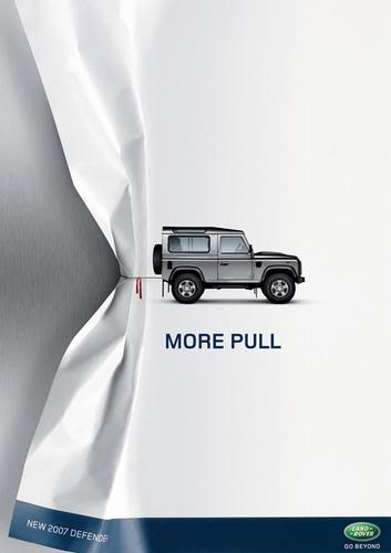This Jeep ad is a great example of a unique, creative ad that uses images belonging to the company! It also sticks with our #10 rule: minimize text! Image courtesy of www.hongkiat.com.